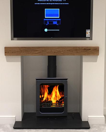 bespoke acr woodpecker stove installation