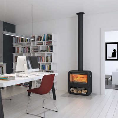 Dovre Rock 500 Woodburner With Wood Box