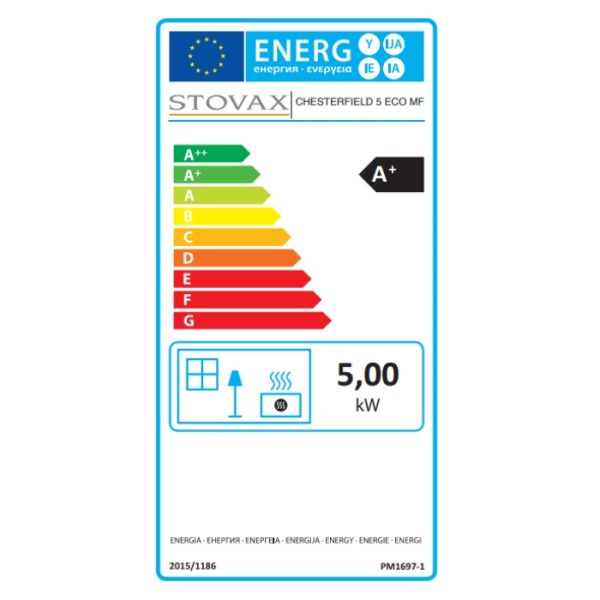 Stovax Chesterfield 5 Multifuel Energy Label