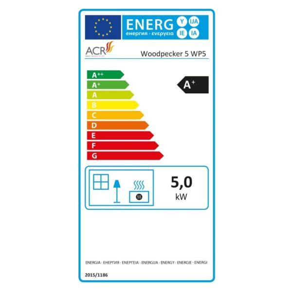 ACR Woodpecker WP5 Multifuel Energy Label