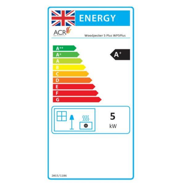 ACR Woodpecker WP5Plus Multifuel Energy Label